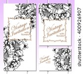vintage delicate invitation... | Shutterstock . vector #400926907