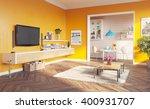 Modern Living Room Interior. 3...