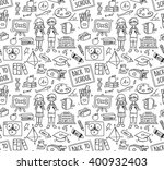 back to school themed doodle... | Shutterstock .eps vector #400932403