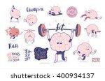 brain stickers fitness... | Shutterstock .eps vector #400934137