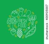 fresh food logo  | Shutterstock .eps vector #400935007