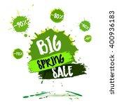 spring sale badge   label  ... | Shutterstock .eps vector #400936183