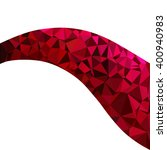 red polygonal mosaic background ... | Shutterstock .eps vector #400940983