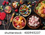 colorful candies  jelly and... | Shutterstock . vector #400945237