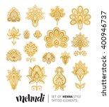 vector illustration of golden... | Shutterstock .eps vector #400946737