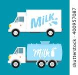 dairy milk delivery service... | Shutterstock .eps vector #400957087