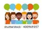 people sharing design  | Shutterstock .eps vector #400969357
