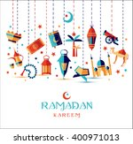Ramadan Kareem Icons Set Of...