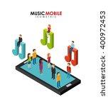 music mobile design  | Shutterstock .eps vector #400972453