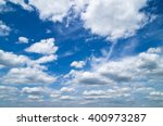 blue sky background with tiny... | Shutterstock . vector #400973287