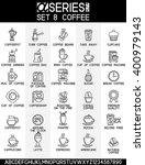 set of line design icons of... | Shutterstock .eps vector #400979143