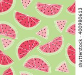 seamless watermelon with white... | Shutterstock .eps vector #400980613