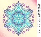 mandala. floral vintage round... | Shutterstock .eps vector #400999267