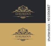 luxury logo template | Shutterstock .eps vector #401006887