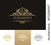 luxury logo vector logo template | Shutterstock .eps vector #401006947