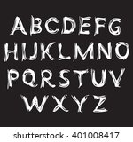 vector alphabet. hand drawn... | Shutterstock .eps vector #401008417
