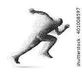 raster version. running man in... | Shutterstock . vector #401008597