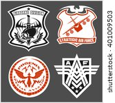 military airforce patch set  ... | Shutterstock .eps vector #401009503