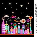 modern city under starry sky...