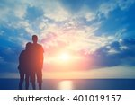 couple in love on the... | Shutterstock . vector #401019157
