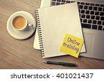 online training written on...   Shutterstock . vector #401021437