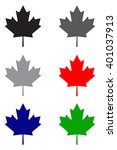 maple leaf icon | Shutterstock .eps vector #401037913