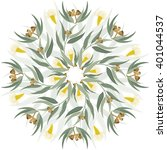 abstract circular ornament ... | Shutterstock .eps vector #401044537