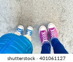 top view of a two pairs of... | Shutterstock . vector #401061127
