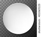 empty white paper plate. vector ...   Shutterstock .eps vector #401065123