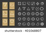 collection of thin 30 geometry... | Shutterstock .eps vector #401068807
