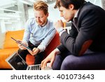 business people looking at... | Shutterstock . vector #401073643