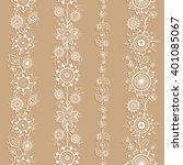 white ornamental seamless... | Shutterstock .eps vector #401085067