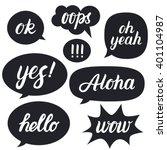 set of hand written lettering... | Shutterstock .eps vector #401104987