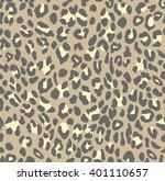 leopard print brown beige... | Shutterstock .eps vector #401110657