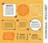 modern quote text template... | Shutterstock .eps vector #401113807