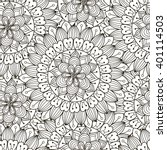 floral ornament seamless... | Shutterstock .eps vector #401114503