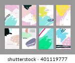 set of hand drawn universal... | Shutterstock .eps vector #401119777
