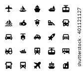 transportation vector icons 2 | Shutterstock .eps vector #401121127