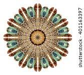 Watercolor Abstract Mandala....