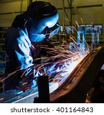 welder industrial automotive... | Shutterstock . vector #401164843