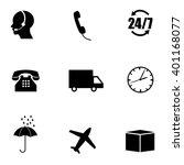 delivery icon set. vector art. | Shutterstock .eps vector #401168077