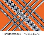 geometric ethnic oriental... | Shutterstock .eps vector #401181673