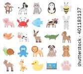 animal icons set. | Shutterstock .eps vector #401183137