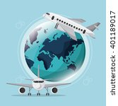 airport icon design   vector... | Shutterstock .eps vector #401189017
