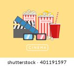 popcorn food illustration.... | Shutterstock . vector #401191597