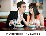 a young and attractive couple... | Shutterstock . vector #40120966
