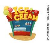 ice cream shop. shop building....   Shutterstock .eps vector #401212837