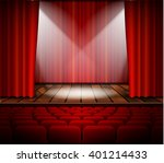 theater stage with a red curtain | Shutterstock . vector #401214433