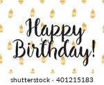 happy birthday inscription.... | Shutterstock .eps vector #401215183