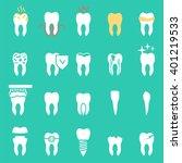 tooth  disease  vector dentist... | Shutterstock .eps vector #401219533
